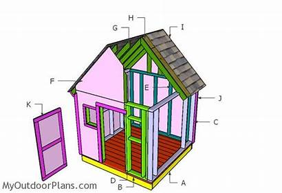 Playhouse Simple Plans Building Diy 6x6 Myoutdoorplans