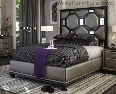 black onyx upholstered king bed master bedroom