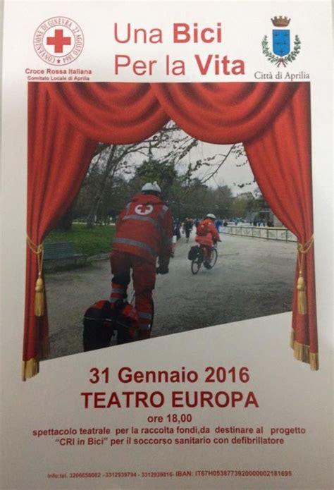 april si鑒e social croce rossa in bici di aprilia in tempo reale