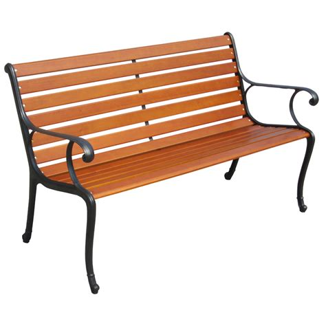 lowes cast iron shop garden treasures 23 6 in w x 50 in l patio bench at