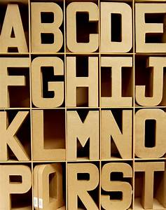 3d papier paper mache large letters 205cm cardboard craft With papier mache alphabet letters