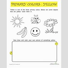 Primary Color Practice Yellow  Coloring Page Educationcom