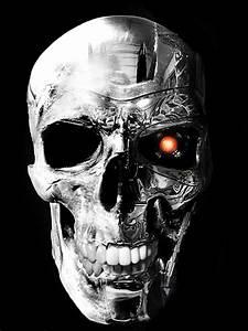 terminator and human skull by DarkMatteria on DeviantArt