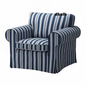 ikea ektorp armchair cover chair slipcover abyn blue white stripes 197 byn