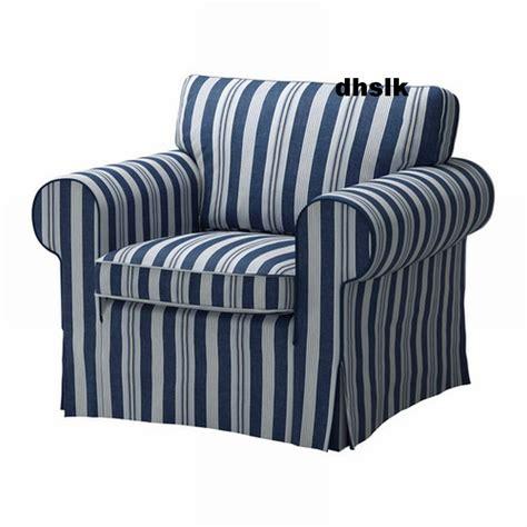 nautical sofa covers ikea ektorp armchair cover chair slipcover abyn blue white