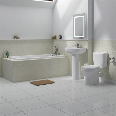 Melbourne 5 Piece Bathroom Suite  3 Bath Size Options At