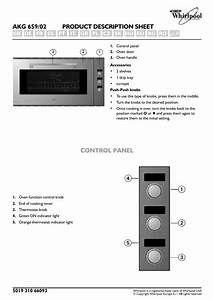 Whirlpool Convection Oven Akg 659  02 User Manual