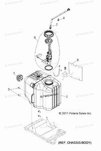 Polaris Side By Side 2013 Oem Parts Diagram For Body  Fuel