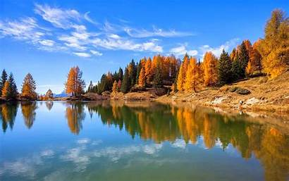 Water Trees Fall Calm Forest Nature Lake