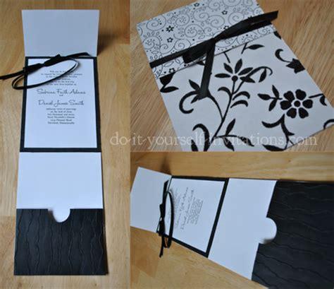 diy wedding invitations black and white black and white wedding invitations diy ideas