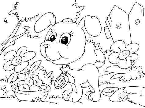 kleurplaat puppy afb
