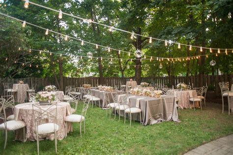 romantic backyard reception