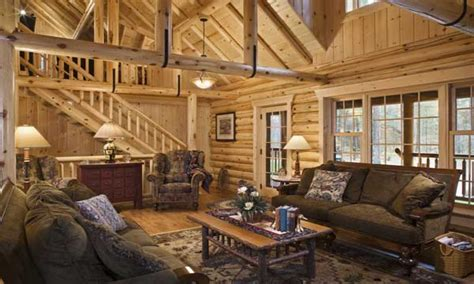 Log Cabin Living Room Pictures To Pin On Pinterest