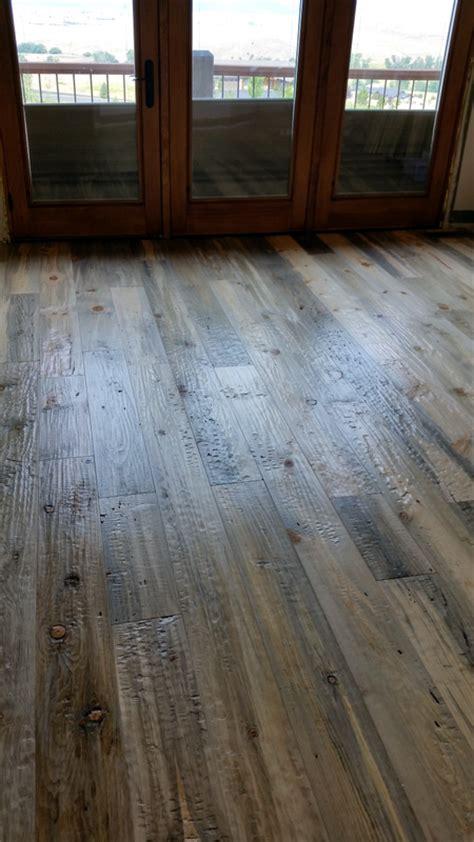 hand scraped beetle kill pine flooring sustainable