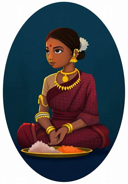 Indian Drawing Illustration Character India Characters South
