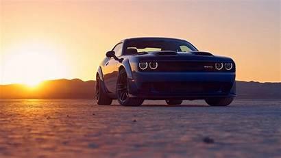 Challenger Dodge Srt Hellcat Wallpapers Sunset Background