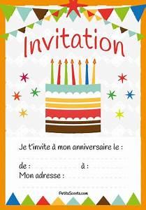 Carte Anniversaire Pour Enfant : carte invitation anniversaire enfant gratuit petitsscouts ~ Melissatoandfro.com Idées de Décoration