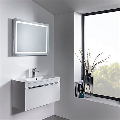 Mirror Design Ideas Integrated Stereo Led Bathroom Mirror