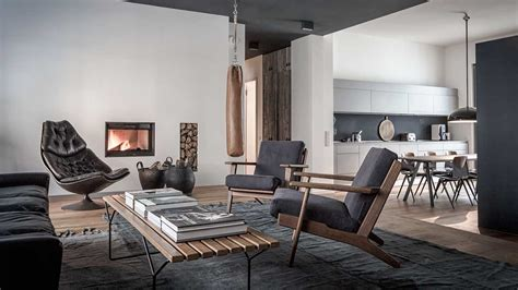 Edgy luxury apartment equipped with statement furniture
