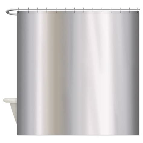 silver shower curtain metallic silver shower curtain by graphicallusions