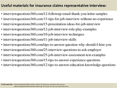 Claims Representative Questions top 10 insurance claims representative questions