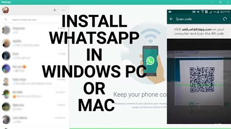 how to install whatsapp in windows 7 8 10 pc or mac 2017 tutorial