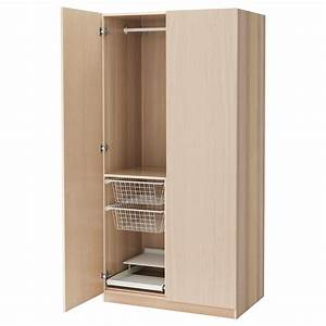 PAX Wardrobe White stained oak effect/nexus white stained