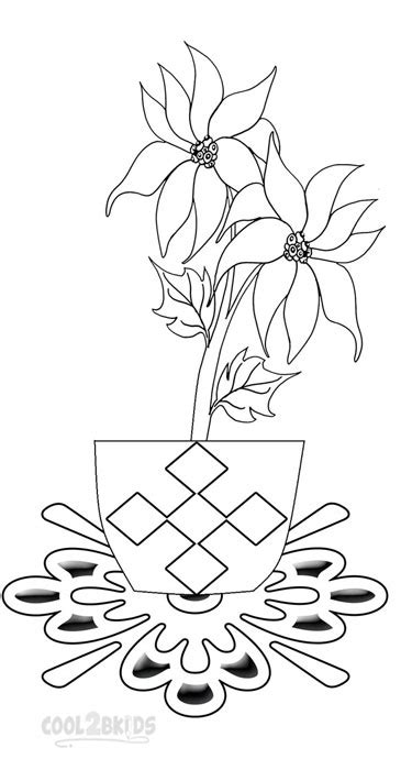 printable poinsettia coloring pages  kids coolbkids