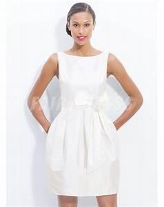 Robe De Mariee Courte : ma provence robe de mari e courte col bateau jupe ballon noeud papillon en taffetas robes de ~ Preciouscoupons.com Idées de Décoration