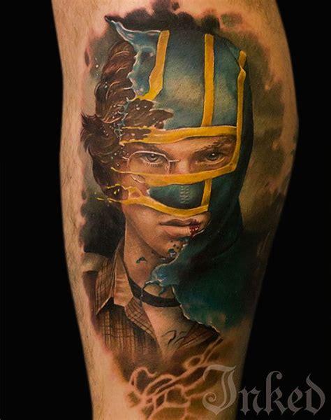 sick kick ass tattoo   brain child  alex noir