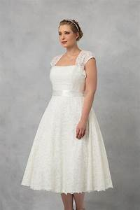 tea length plus size wedding dress with shrug 9t9948 With plus size tea length wedding dress