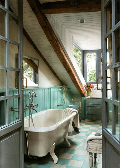 charming rustic cottage bathroom  panelled wainscoting
