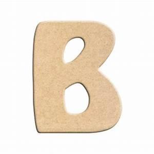 Lettre En Bois A Peindre : lettre b peindre d corer lettre en bois brut lettre ~ Dailycaller-alerts.com Idées de Décoration