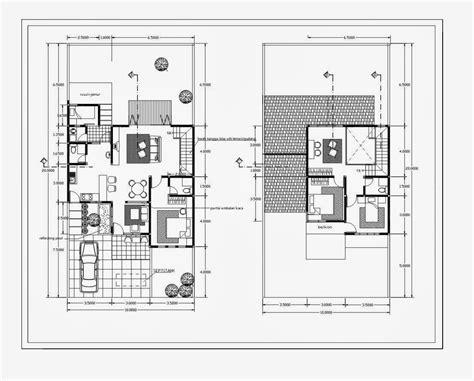 rumah minimalis cat abu abu terbaru denah rumah type