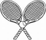 Tennis Coloring Ball Racket Rackets Racquet Sheets Printable Wecoloringpage Cool Writing Paper sketch template
