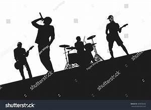 Rock Band On Stage Stock Vector 350656646 - Shutterstock