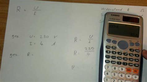elektrischen widerstand berechnen physik aufgaben youtube