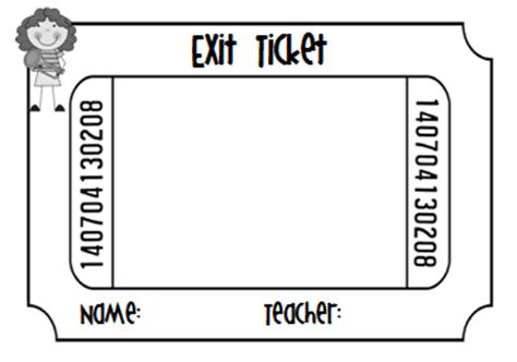 Exit Ticket Template Exit Ticket Template For Teachers Search Engine At