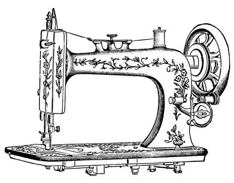 Sewing Machine Coloring Page