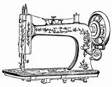 Sewing Machine Drawing Tattoo Clip Coloring Pages Machines Colouring Clipart Printablecolouringpages Printable sketch template