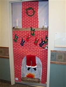 Santa Door Decoration Holiday Pinterest