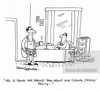 Friday Casual Cartoon Cartoons Comics Policy Funny