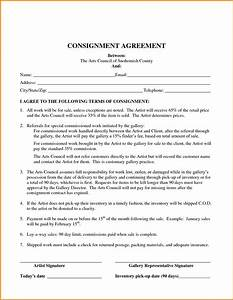 consignment inventory agreement template With consignment shop contract template