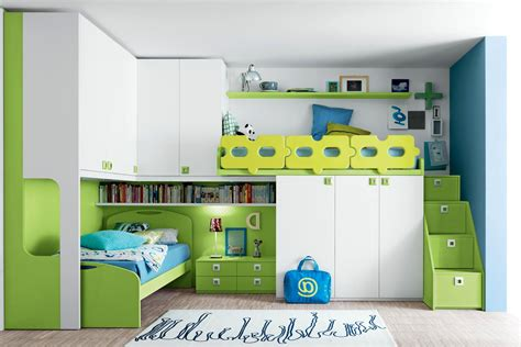 kid bed designs stylish modern kids loft beds design incorporating green forest theme and many built in features