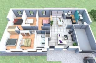 plan de maison plain pied 5 chambres