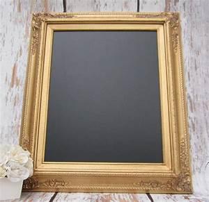 GOLD FRAMED CHALKBOARD Kitchen Magnetic Memo Board Home ...