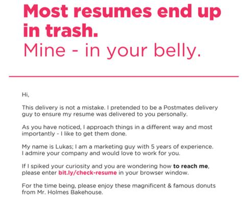 The Guys Resume by Pretends To Be Food Courier And Delivers Resume 2