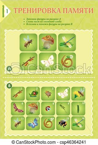 memory game children insects memory game children