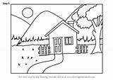 Draw Easy Drawing Scenery Step Scenes Tutorials Drawings Learn Places Architecture Paintingvalley sketch template