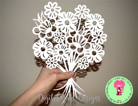 flower bouquet svg dxf eps files   png